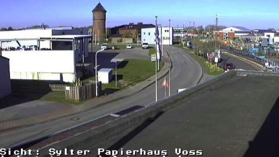 Zufahrt Autoverladestation Industrieweg Westerland