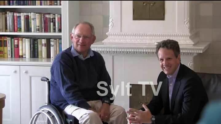 Timothy Geithner + Wolfgang Schäuble auf Sylt