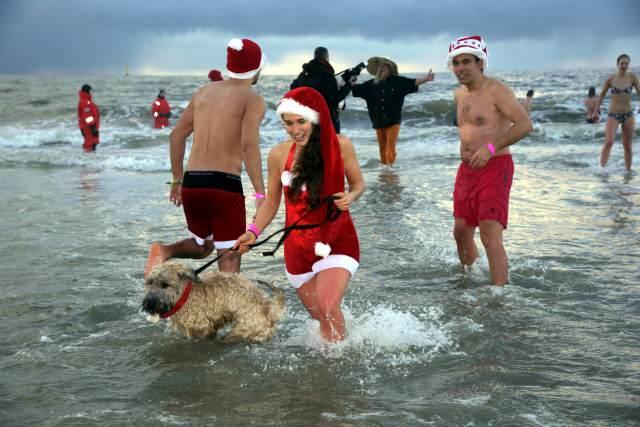 Weihnachtsbaden mit Hund auf Sylt