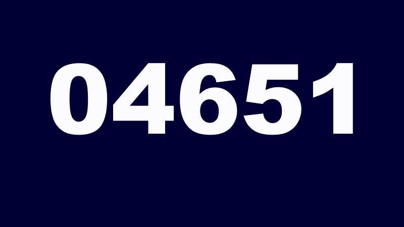04651 die Telefonvorwahl von Sylt