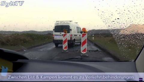 Straße zwischen Kampen und List auf Sylt