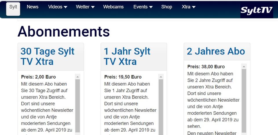 Sylt TV Xtra ist da