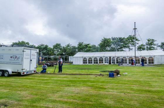 Aufbau des Dorffest in Archsum
