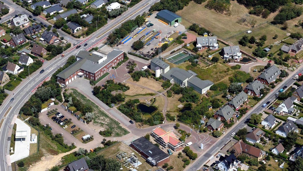 Das EVS Gelände in Westerland auf Sylt