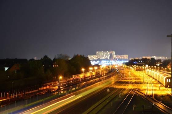 Der Bahnhof von Westerland bei Nacht