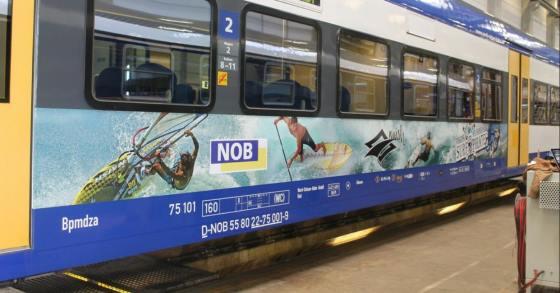 Die NOB holt den Strand in den Zug nach Sylt