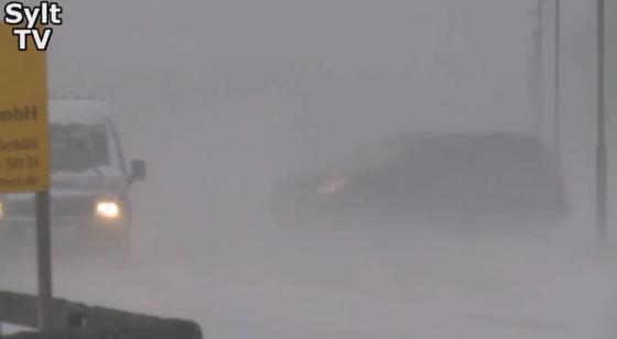 Schneesturm auf Sylt legt teilweise den Verkehr lahm