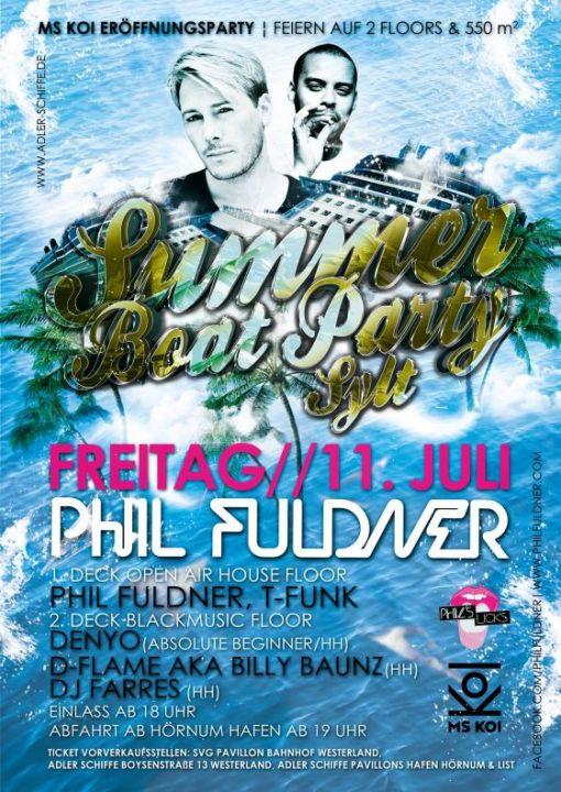 Summer Boat Party Sylt am 11. Juli - Wir verlosen Tickets