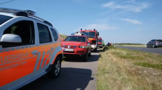 Gemeinsame Großübung der Feuerwehren, Notärzten und Sanitäter