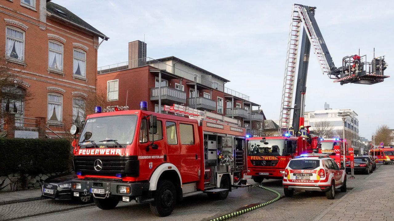 Einsatz der Westerländer Feuerwehr in Sylter Ferienresort