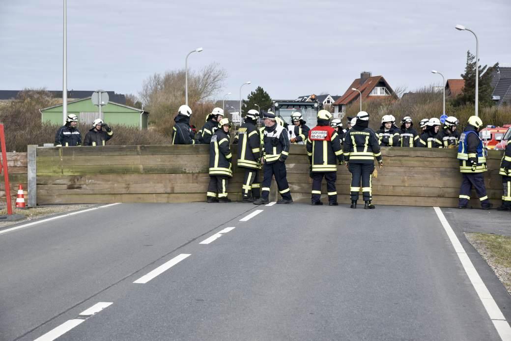 Katastrophenschutzübung in Westerland