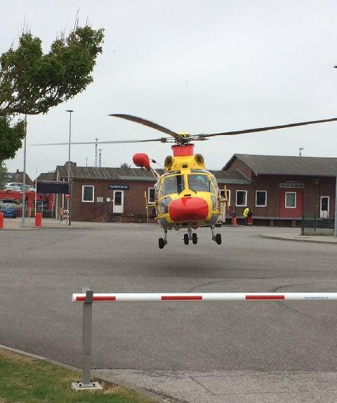 Die lebensgefährlich verletzte Person wurde ausgeflogen