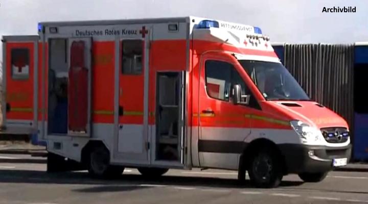 Der Rettungsdienst brachte den Mann in Krankenhaus