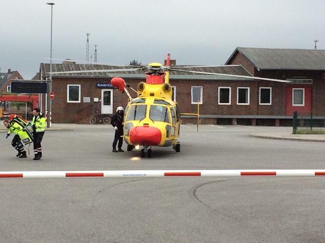 Windea Care Rettungshubschrauber landet auf Sylt