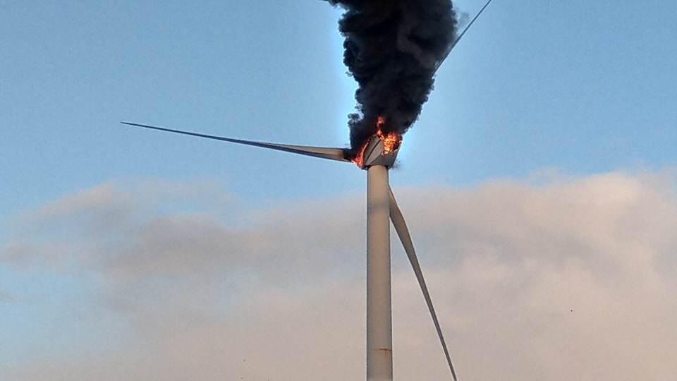 Die Windkraftanlage stand schnell in Flammen
