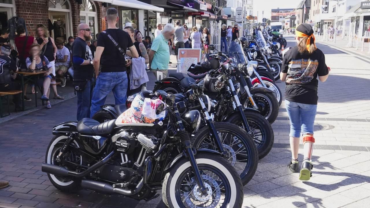 Auftakt der Harley Days 2018 in der Westerländer Elisabethstraße