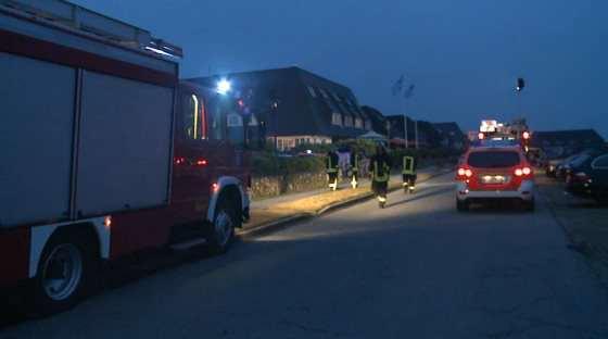 Feuer in der Kurhausstrasse in Kampen