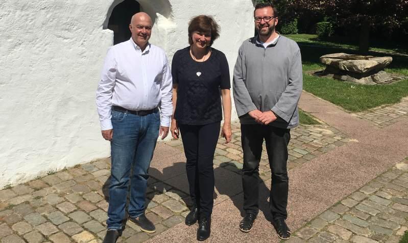 Kurt Zech, Pastorin Susanne Zingel, Pastor Ingo Pohl St. Severin Keitum/Sylt