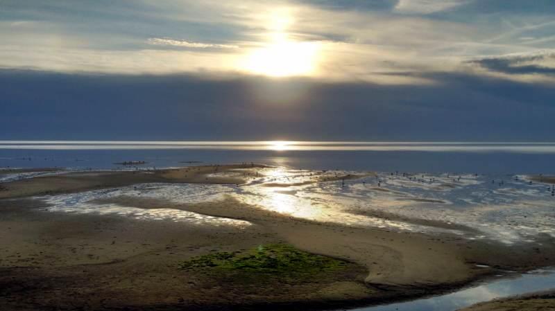 Wattenmeer auf Sylt hier sieht mann Ebbe + Flut am deutlichsten