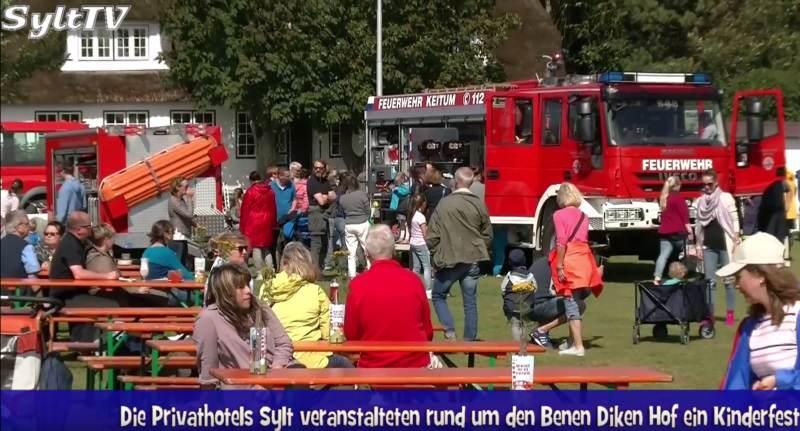 Die Feuerwehr war das Thema beim Kinderfest der Sylter Privathotels
