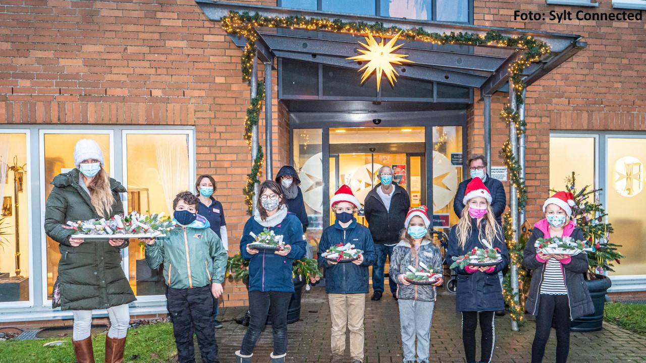Weihnachtsgrüße von Westerländer Schulkindern für Sylter Senioren