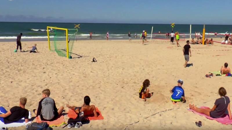 Der größte Spielplatz für Kinder auf Sylt, der Strand