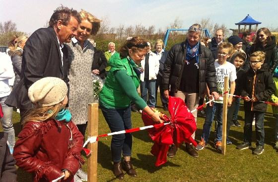 Bürgermeisterin Karin Fifeik gab das Gelände frei