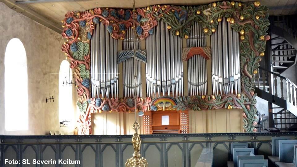 Die Orgel in der Keitumer St. Severin Kirche auf Sylt