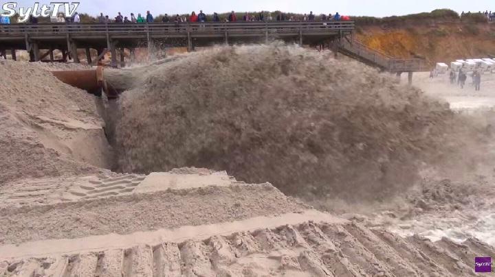 Sandvorspülungen in Kampen auf Sylt