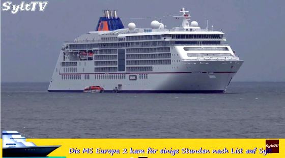MS Europa 2 vor Sylt