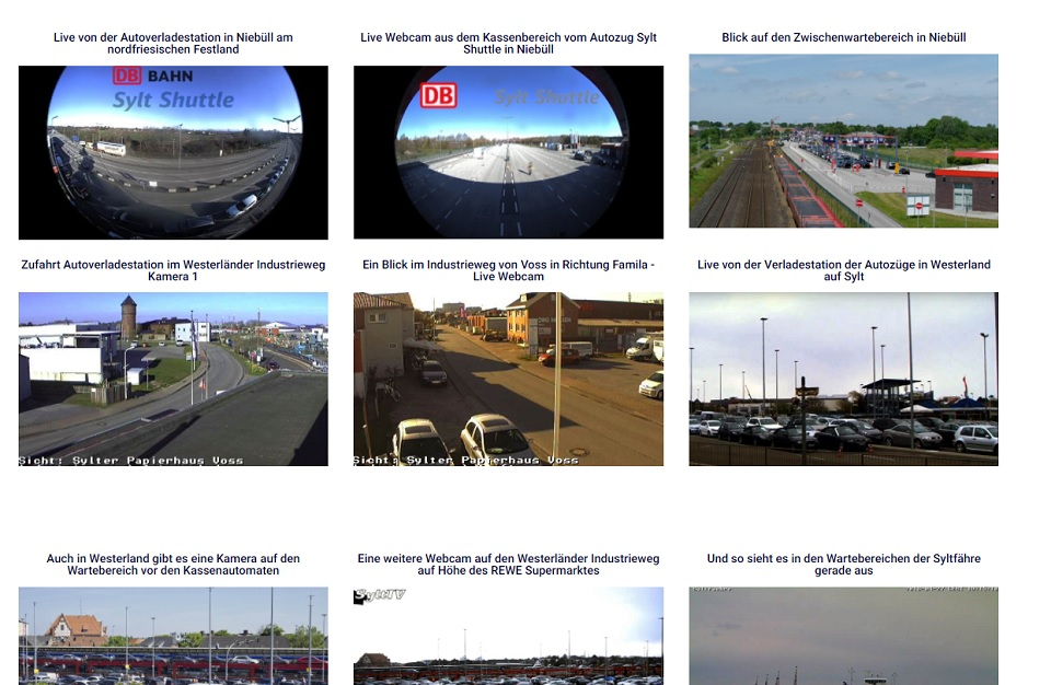 Live Webcams und wir sagen wie lang aktuell am Autozug Sylt Shuttle gewartet werden muss