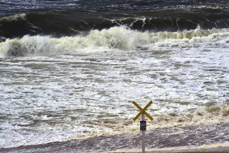 Bisher ist der Sommersturm auf der Insel mit Windstärke 10 unterwegs