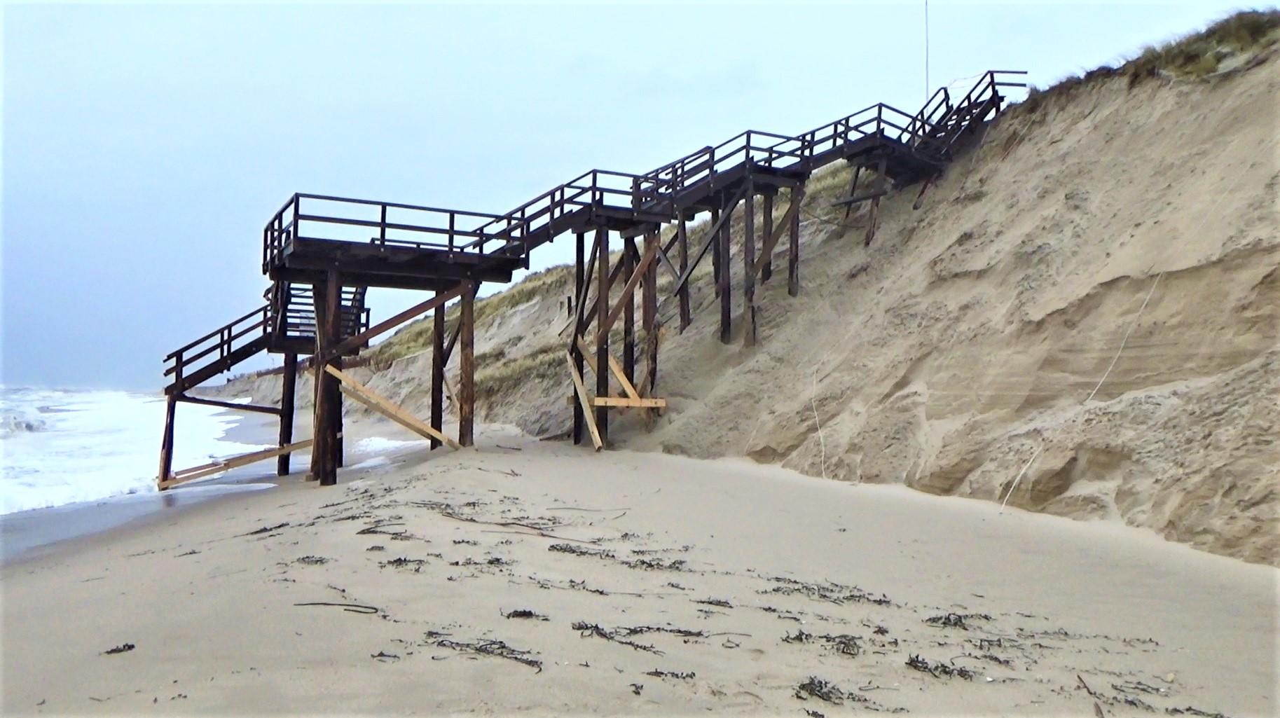 Sylts Küste hat unter Orkan Sabine schon gelitten.
