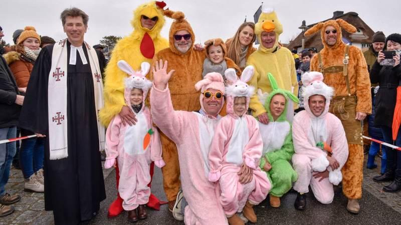 Ostern auf Sylt immer ein großer Spaß, der Ostereierlauf