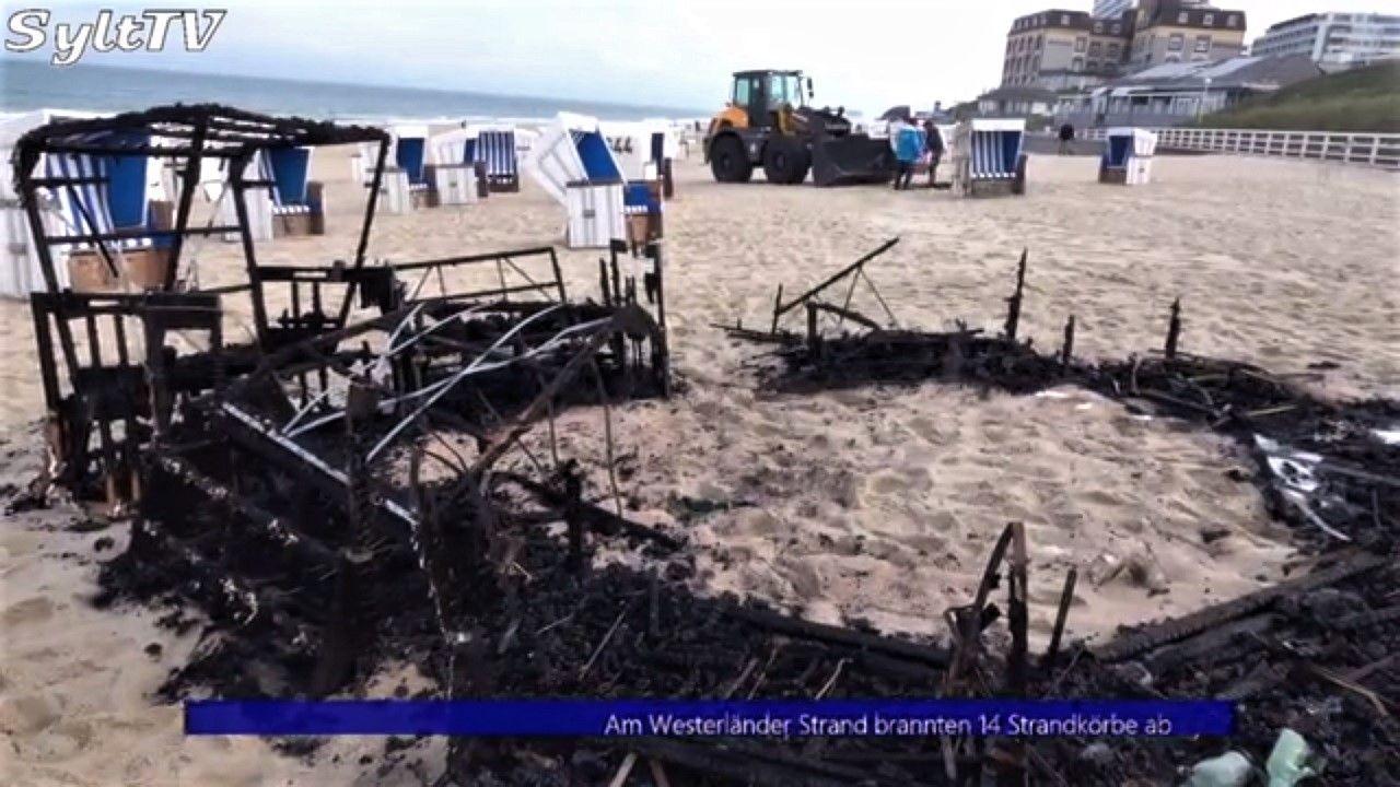 Sylter Polizei sucht Zeugen nach Brand von Strandkörben