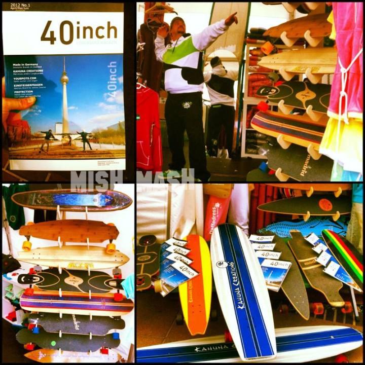 Longboards beim Kitesurfcup