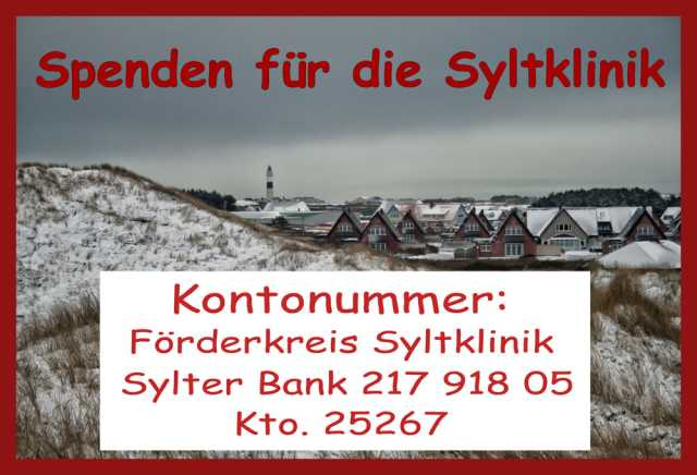 Spendenkonto Syltklinik