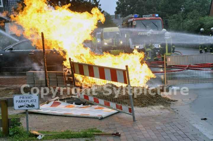 Feuer Gasunfall Sylt