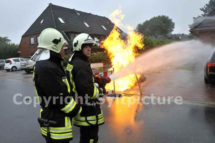 Gasleitung brennt Sylt