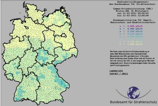 Radioaktive Strahlung Deutschland