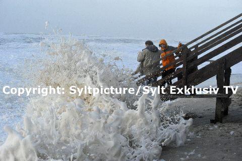 Automatisches Warnmodul vor Sturm, Orkan und Sturmfluten auf Sylt
