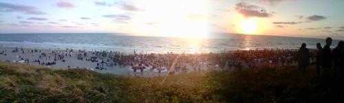 Sonnenuntergang Sylt Party Juni 2009