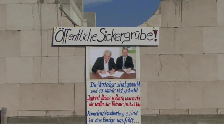Plakataktion an der Keitum Therme Sylt