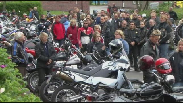 Viele Biker kamen zum Sylter Biker Gottesdienst.
