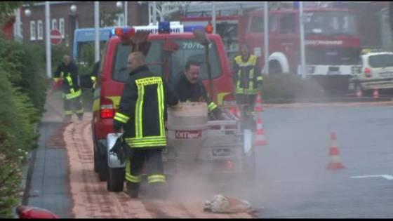 Öl-Unfall am Bahnhof von Westerland