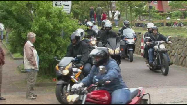 Motorrad Corso auf der Insel Sylt