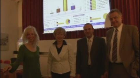 Bürgermeisterin Petra Reiber und ihre Konkurrenten