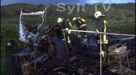Wohnmobil Brand in Kampen auf Sylt
