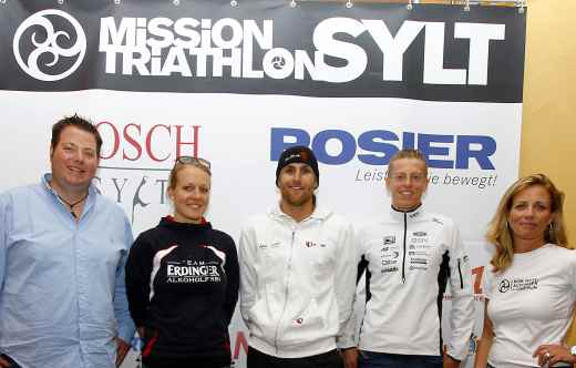Sylt Triathlon Athleten sind auf der Insel