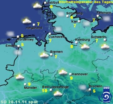 Sylt Wetter 20.November 2011